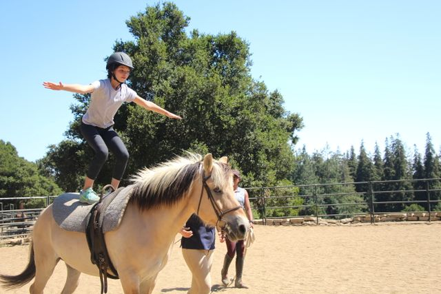 Stand tall and ride on! #weloveyousnoopy #vaulting #horsebackriding #equestrian #summercamp