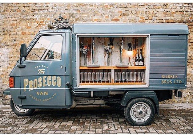 We could not be more obsessed with this amazing #prosecco #mobilebar from @bubblebrosofficial - tag someone you think would LOVE this! #wedding #foodtruck #weddingfoodtruck #baronwheels #popthebubbly #bar ( #? @rusticweddingchic via @latermedia )